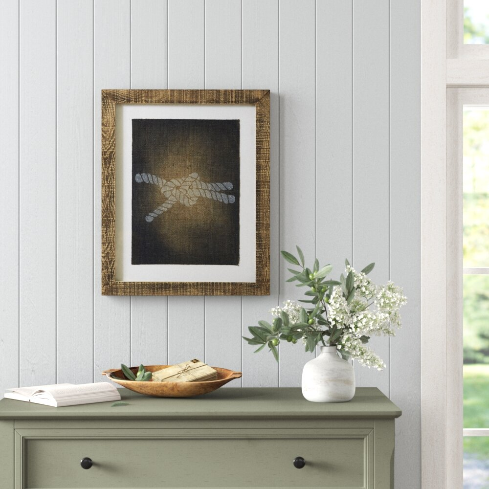 Knot Stamped Picture Frame Graphic Art Birch Lane