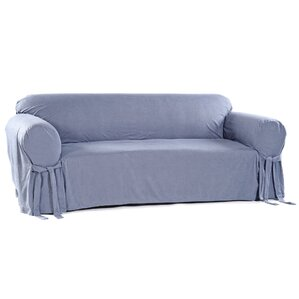 Classic Slipcovers Box Cushion Loveseat Slipcover