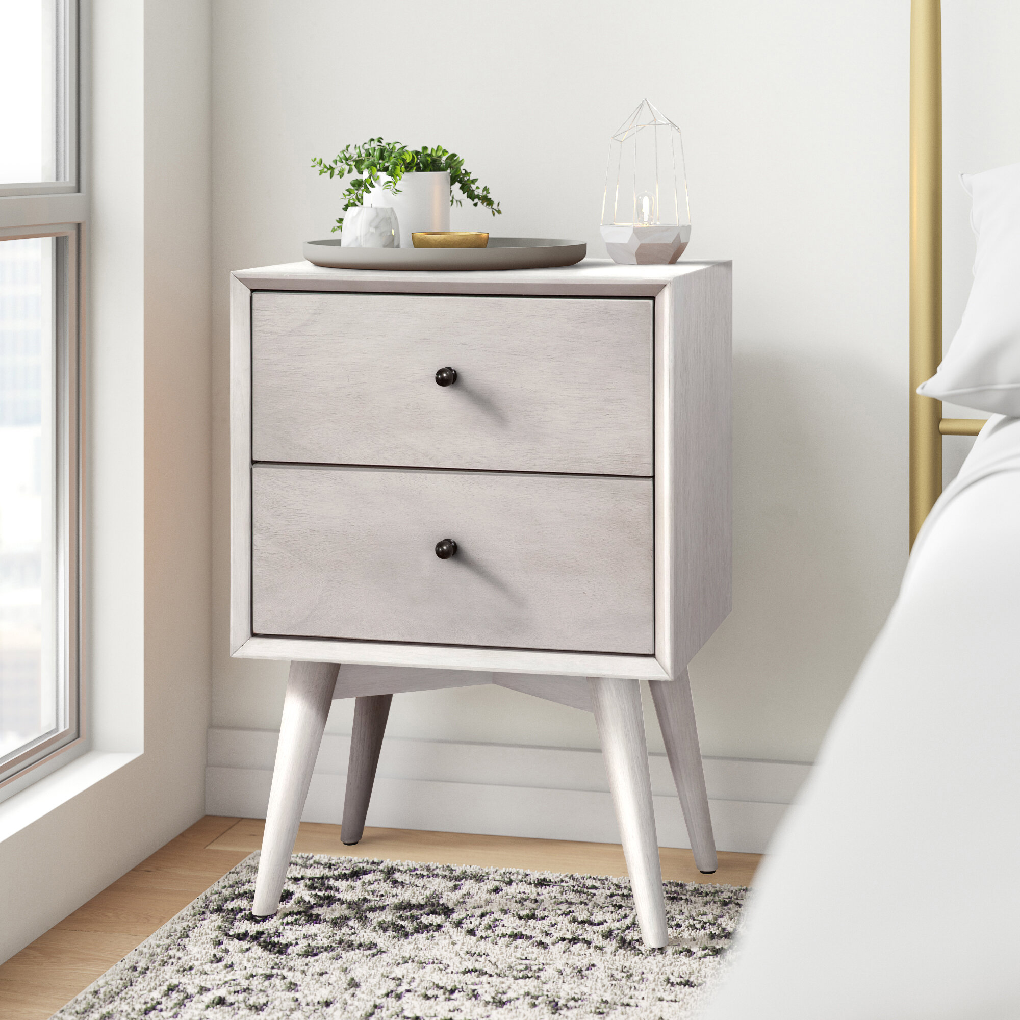 Grey Nightstands Free Shipping Over 35 Wayfair