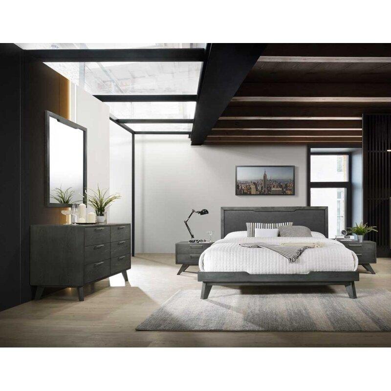 Allmodern Upholstered Platform 5 Piece Bedroom Set Reviews Wayfair