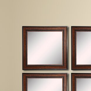 Darby Home Co Square Country Pine Wall Mirror (Set of 4)