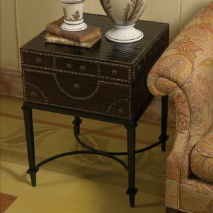 Document Box End Table with Storage by Global Views