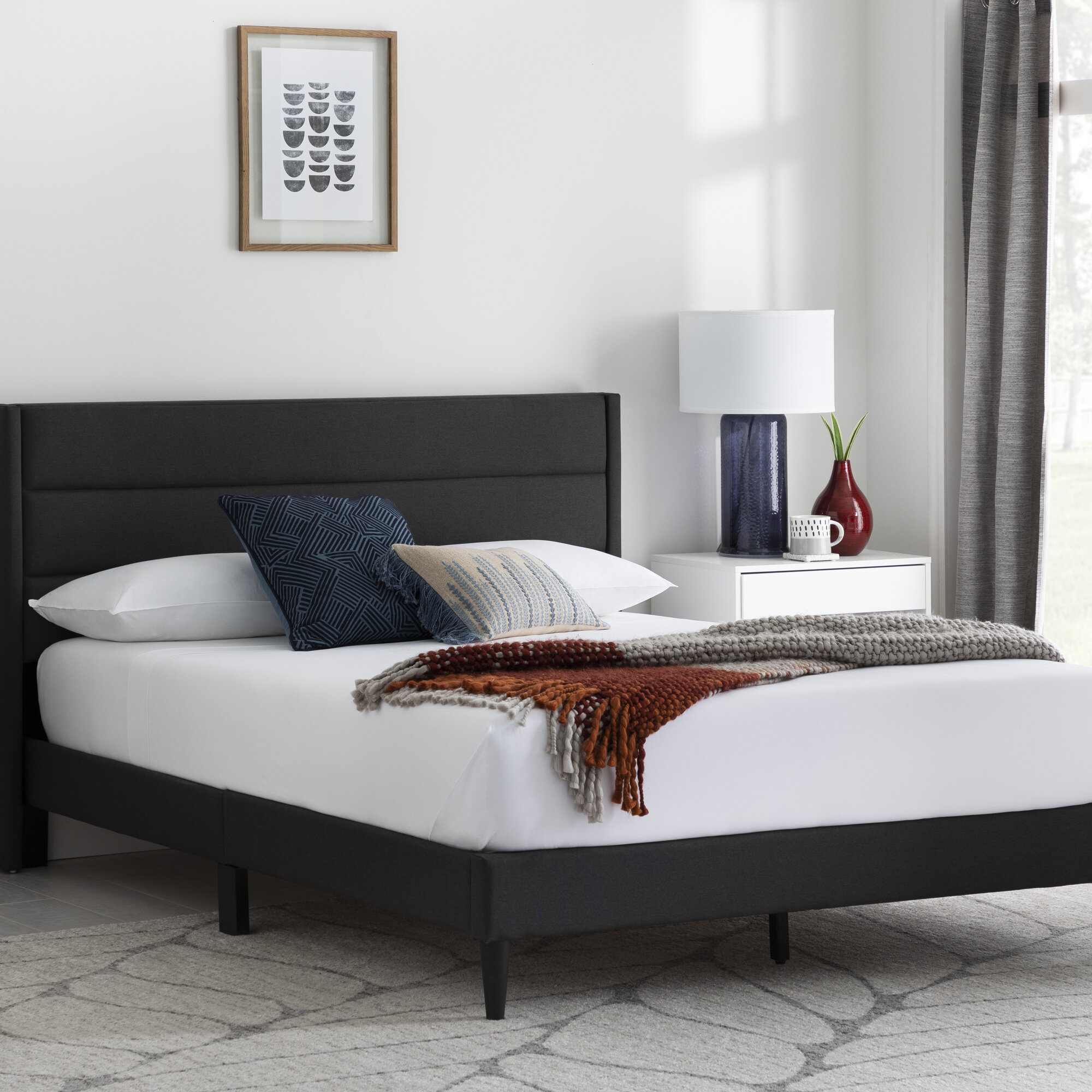 Mercury Row Scarlett Upholstered Low Profile Platform Bed Reviews Wayfair