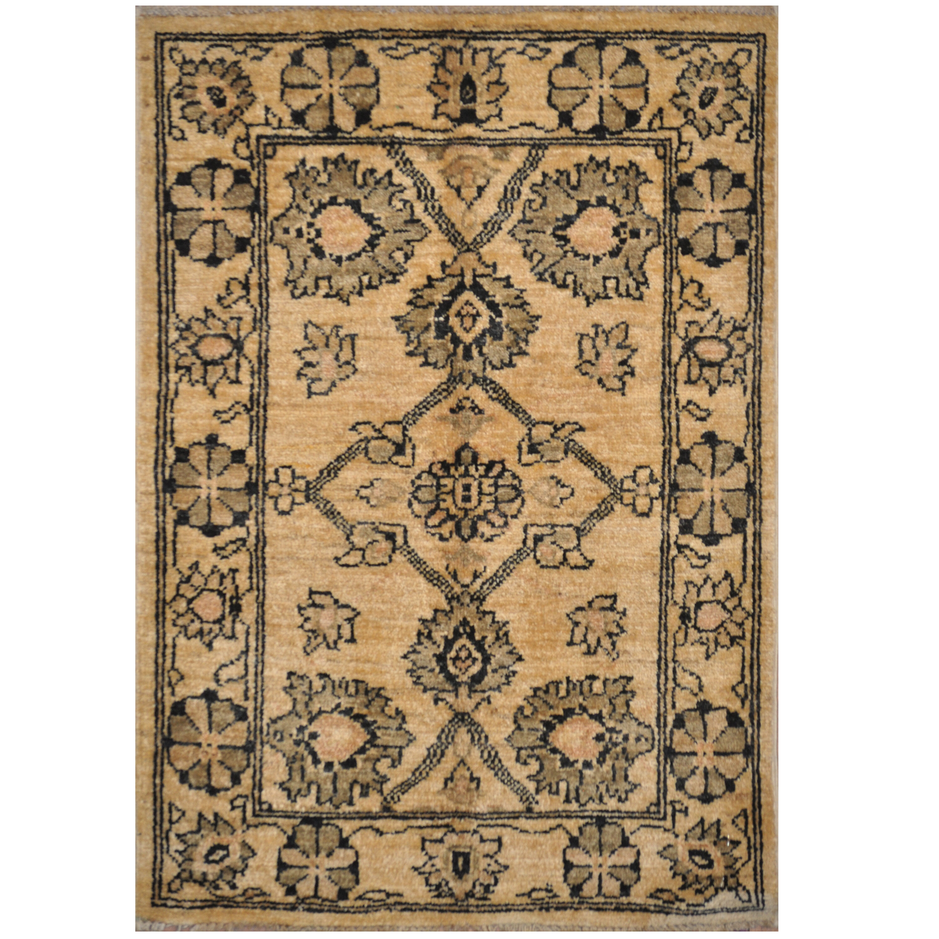 Bloomsbury Market One Of A Kind Cayla Hand Knotted Kazak Ivory Gray 2 X 3 Wool Area Rug Wayfair