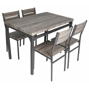 Emmeline 5 Piece Breakfast Nook Dining Set by Gracie Oaks