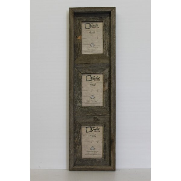 Loon Peak Farina Barn Wood Vertical 3 Opening Collage Picture Frame ...