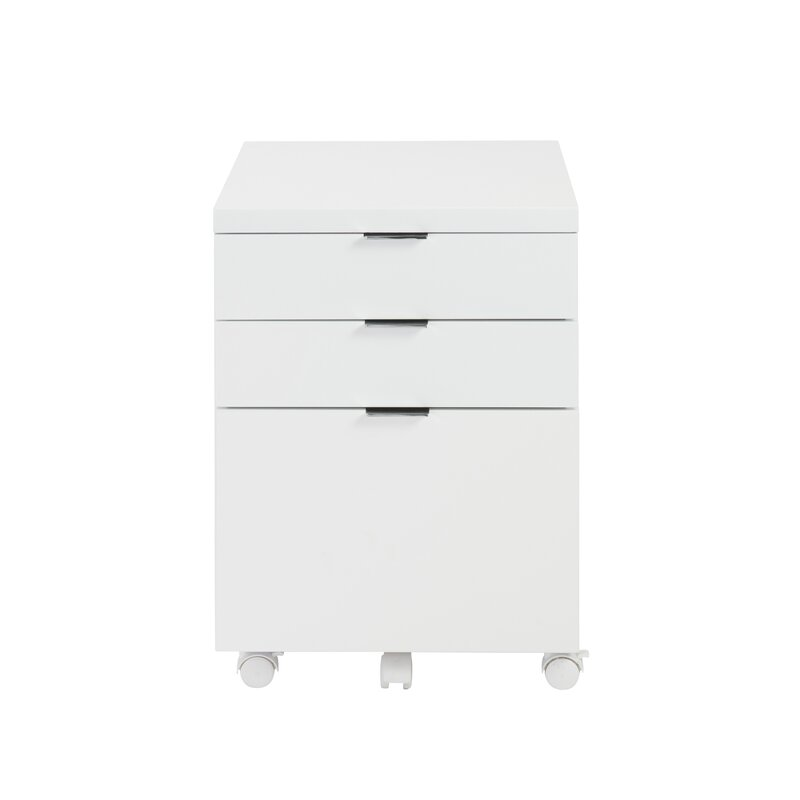 Mcgrady 3 Drawer Mobile Backert Filing Cabinet