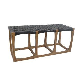 Union Rustic Linquist Woven Seat Bench