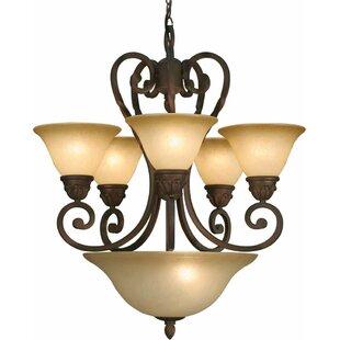 Volume Lighting Isabela 7-Light Shaded Chandelier