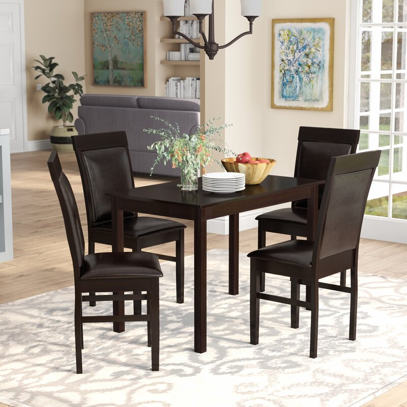 Genial Kisor Modern And Contemporary 5 Piece Breakfast Nook Dining Set