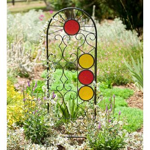 Rising Sun Metal Arched Trellis