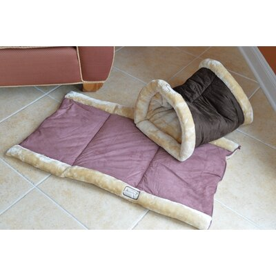 2 In 1 Cat Bed And Mat Armarkat Color: Indian Red And Beige