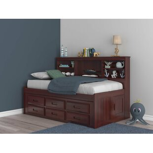 Fulvia Bed with Bookcase and 6 Drawers by Birch Lane