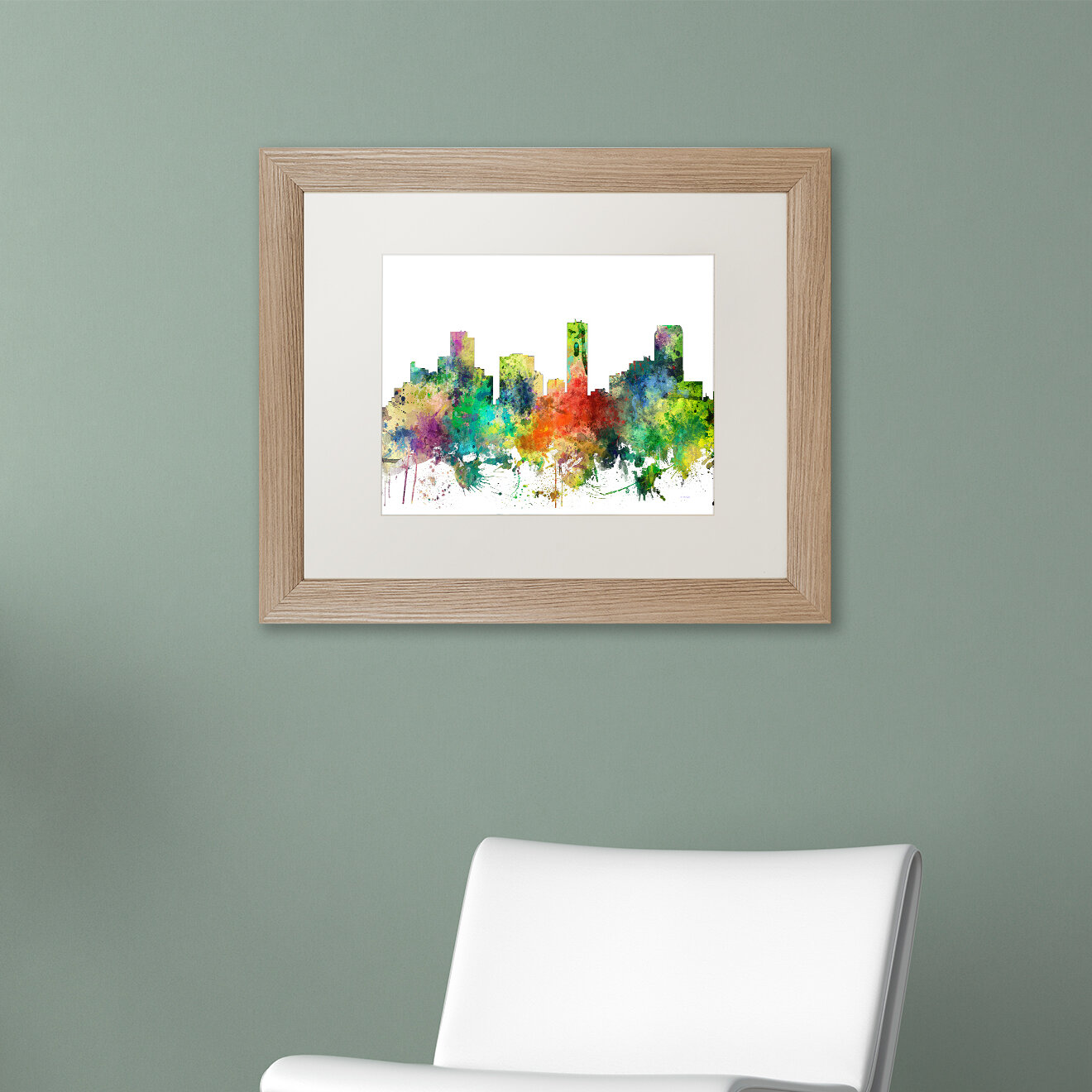 Trademark Art Denver Colorado Skyline Sp Framed Graphic Art On Canvas Wayfair