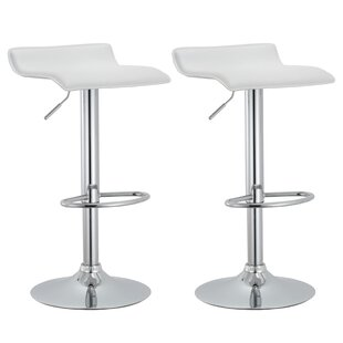 Price Check Rockmart Adjustable Height Swivel Bar Stool (Set of 2) by Zipcode Design