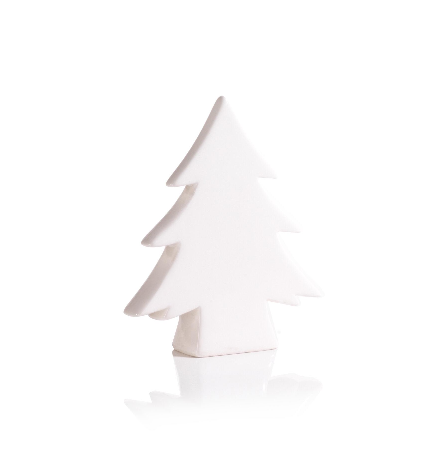 White Ceramic Christmas Tree.Ceramic Christmas Tree Tabletop Decoration