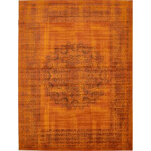 Neuilly Terracotta/Brown Area Rug
