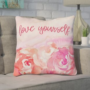 Coss Love Yourself Floral Throw Pillow