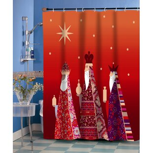 Reinhard Polyester Holiday Single Shower Curtain