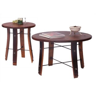 Round Stave 2 Piece Coffee Table Set 2 Day Designs, Inc