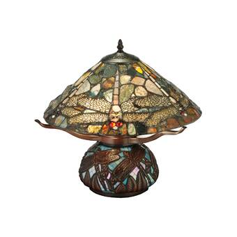 Meyda Tiffany Dragonfly Cut Agata 16 5 Table Lamp Wayfair