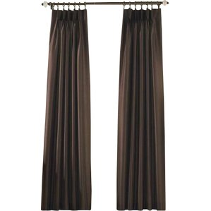 marquee solid room darkening pinch pleat single curtain panel
