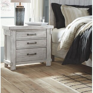 Gracie Oaks Rovner 3 Drawer Night Stand