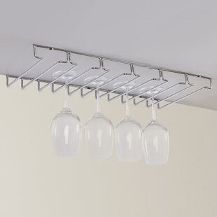 Hoyle Hanging Wine Glass Rack by Wrought Studio