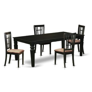 Beesley 5 Piece Rectangular HardWood Dining Set