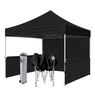 Premium 10 Ft. W x 10 Ft. D Metal Pop-Up Canopy by Eurmax