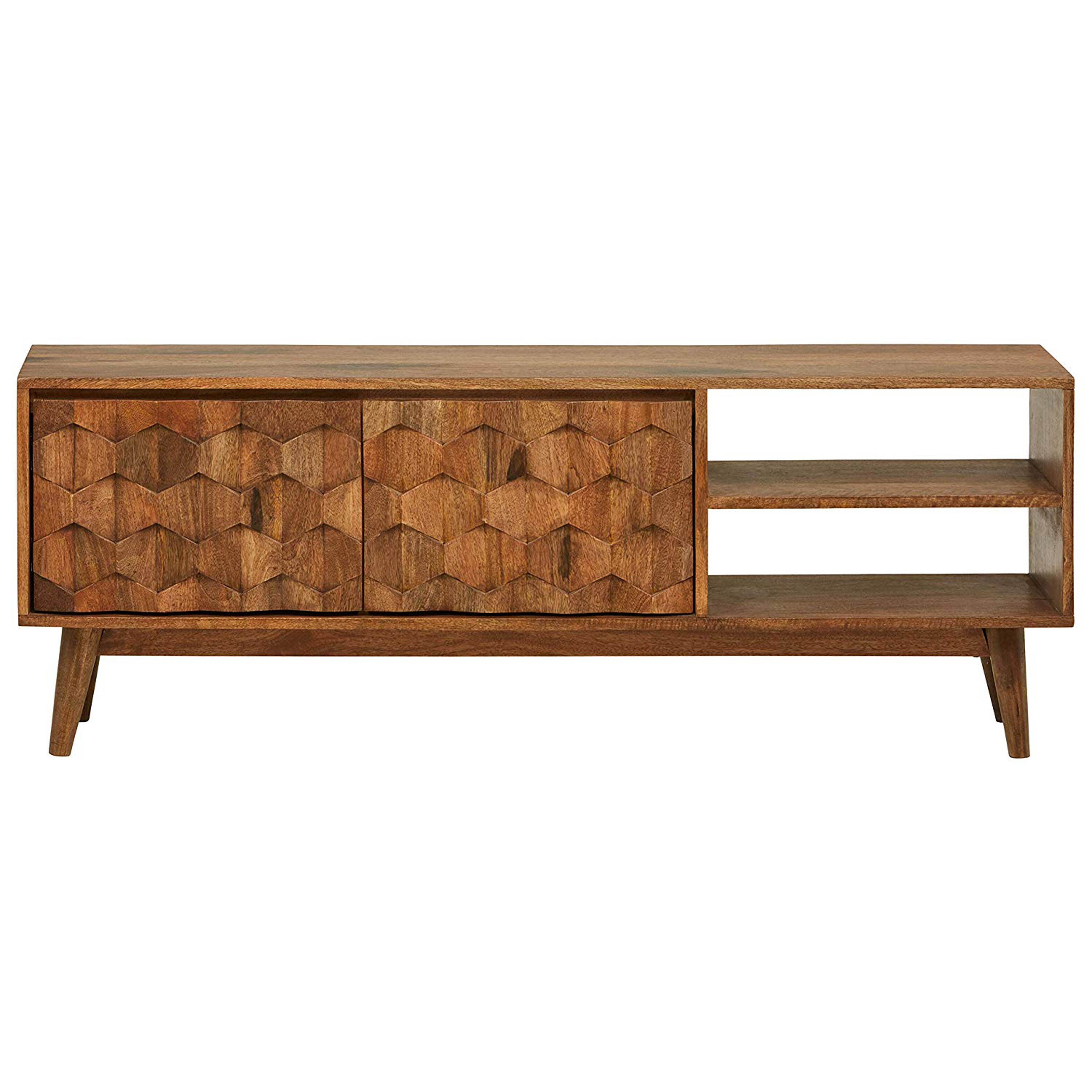 George Oliver Ingersoll Solid Wood Tv Stand For Tvs Up To 65 Reviews Wayfair Ca