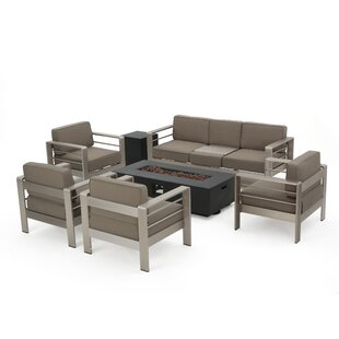 Durbin 7 Piece Sofa Set With Cushions by Wade Logan Modern