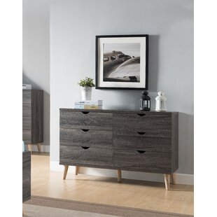 Bowie 6 Drawer Double Dresser by Trule Teen