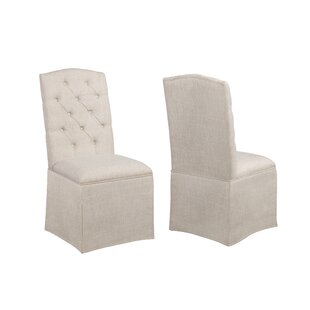 Aaralynn Tufted Upholstered Parsons Chair Set of 2