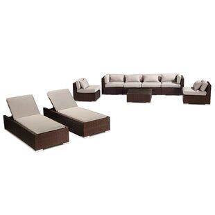 Kardiel Maui 9 Piece Sectional Set with Cushions