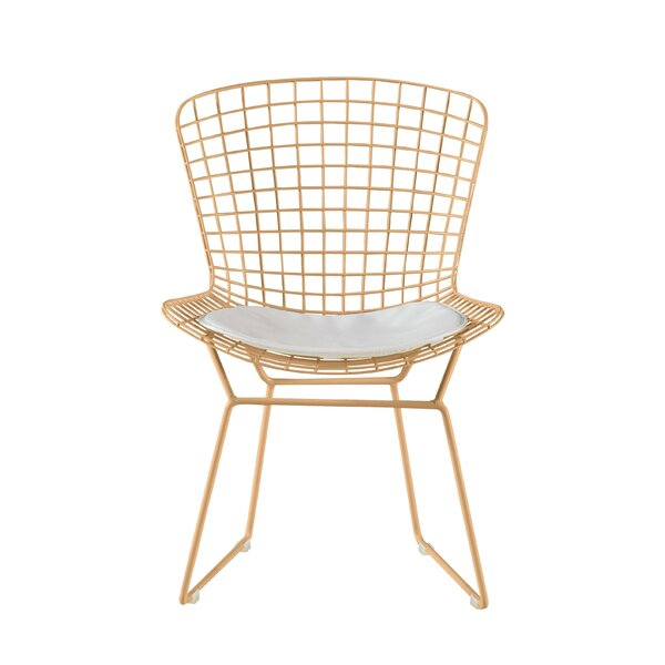 Pleasant Wire Mesh Dining Chair Wayfair Creativecarmelina Interior Chair Design Creativecarmelinacom