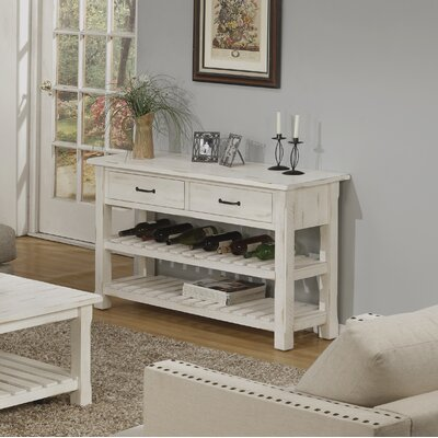 17 Stories Benefield Console Table Color Antique White