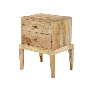 Arian 2 Drawer Bedside Table By Alpen Home