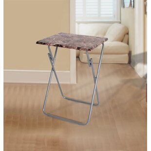 Jacobsen Metallic Veneer Folding Snack Tray Table