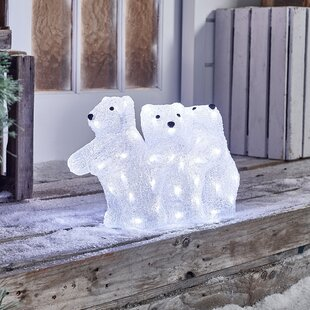 Mains Operated Indoor And Outdoor Solid Xmas Acrylic Christmas Decoration Figurine By The Seasonal Aisle
