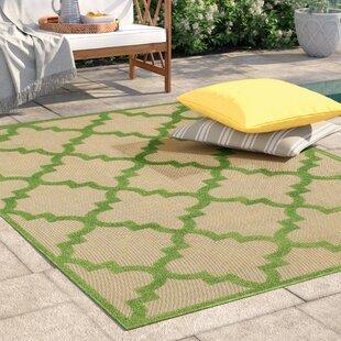 Barker Sand/Green Indoor/Outdoor Area Rug