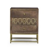 3 - Drawer Nightstand in Brown by Rosdorf Park