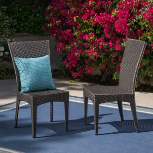 Giunta Outdoor Wicker Patio Dining Chair (Set of 2)