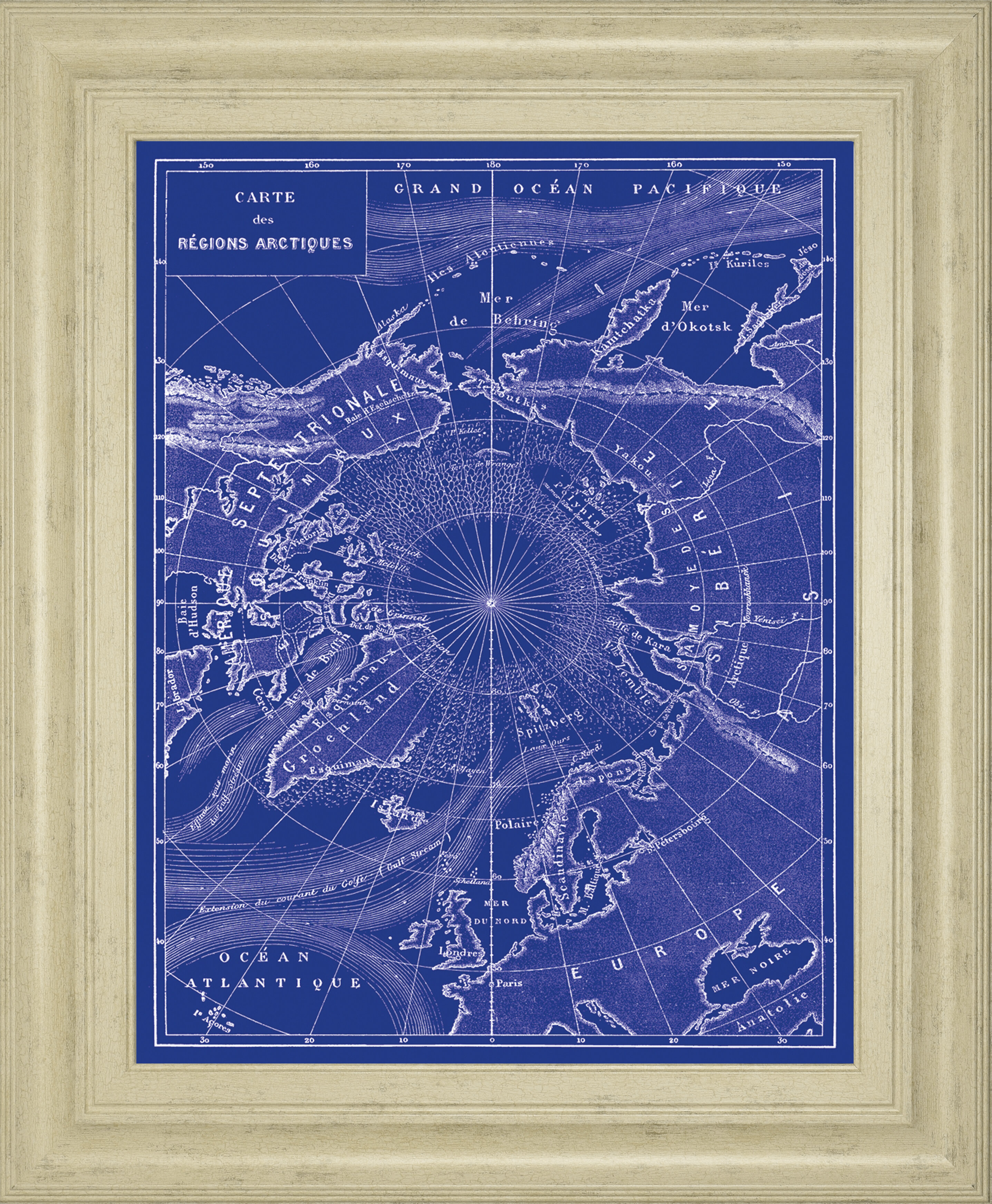 Classyartwholesalers Arctic Map By The Vintage Collection Framed Graphic Art Wayfair