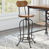Alva Solid Wood Adjustable Height Stool (Set of 2) by Trent Austin Design®