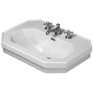 Price comparison 1930 Series Ceramic 24 Wall Mount Bathroom Sink with Overflow By Duravit