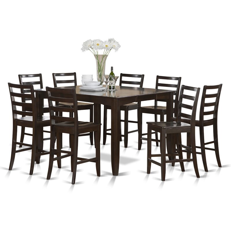Tamarack 9 Piece Counter Height Extendable Dining Set  sc 1 st  Wayfair & Red Barrel Studio Tamarack 9 Piece Counter Height Extendable Dining ...