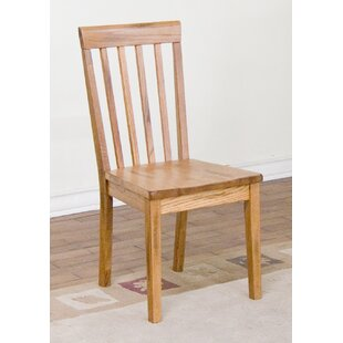 Fresno Solid Wood Dining Chair Loon Peak