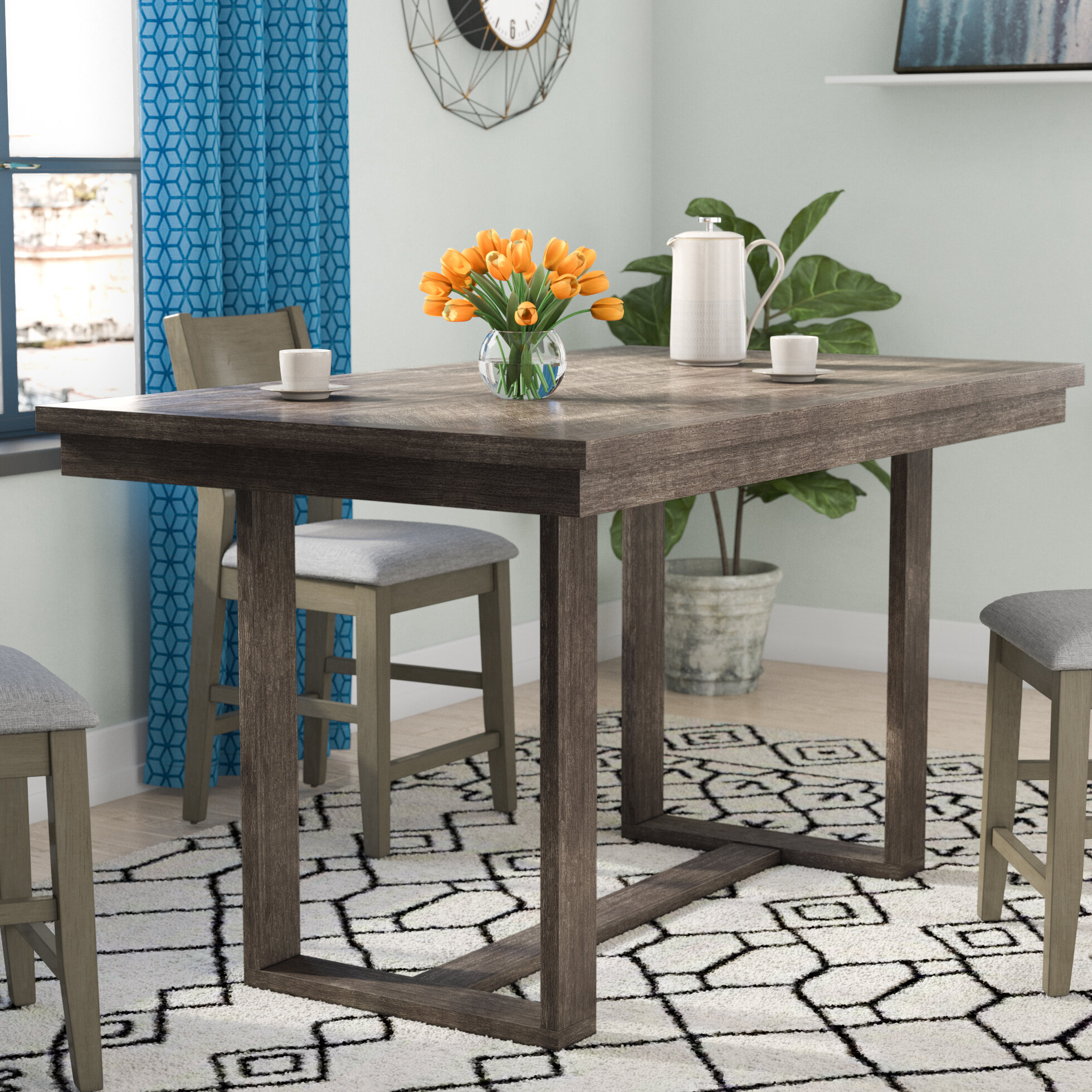 Andy Solid Wood Dining Table
