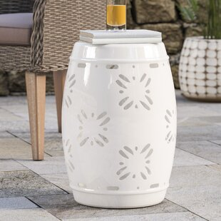 Reviews Dotterel Sakura Garden Stool By Beachcrest Home